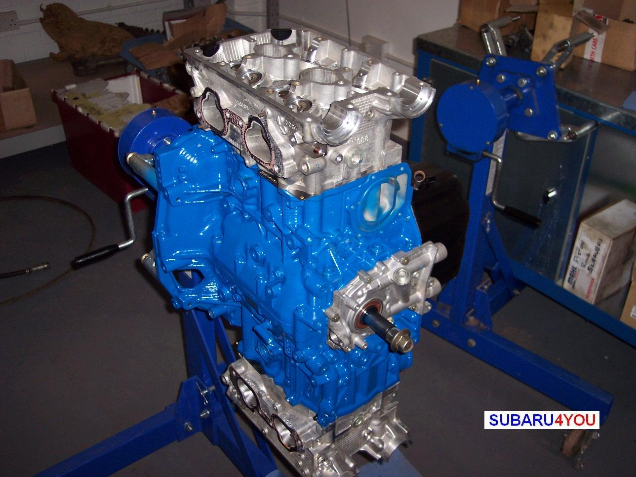 Subaru 2.35 Engine rebuild cylinder heads fitted