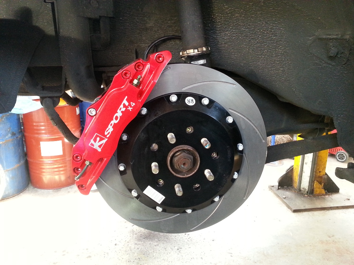 KSport 330mm brake Caliper Red After Fitting