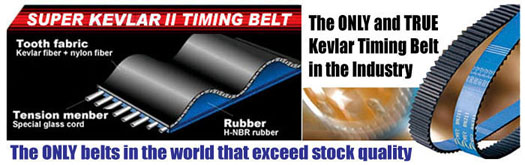 timing belt, kevlar timing belt, kevlar cambelt, high performance timing belt, kevlar belt