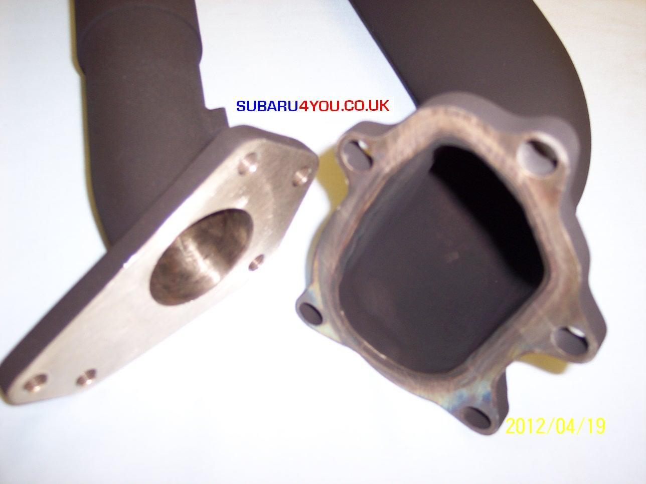 Subaru exhaust Hayward and scott Subaru impreza wrx STi Exhaust Uppipe ceramic coated exhaust uppipe