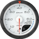 defi advance cr fuel pressure gauge 60mm white