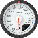defi advance cr oil temperature gauge 60mm white