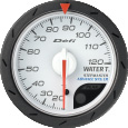 defi advance cr water temperature gauge 52mm white