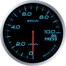 defi gauge blue oil pressure