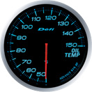defi gauge blue oil temperature