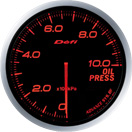 defi gauge red-amber oil pressure