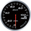 defi gauge white oil pressure