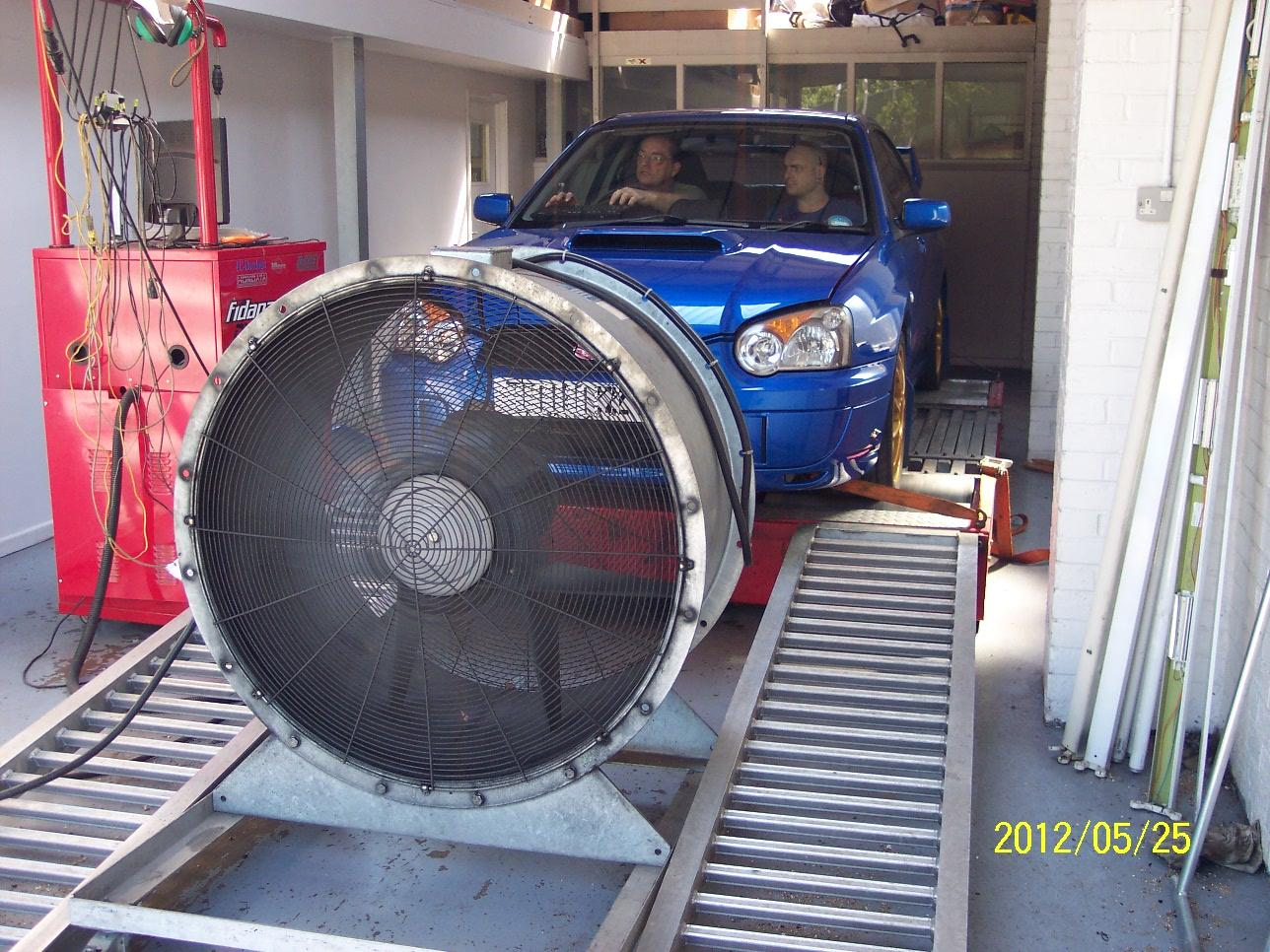 Car on Dyno Dynamics Rolling Road