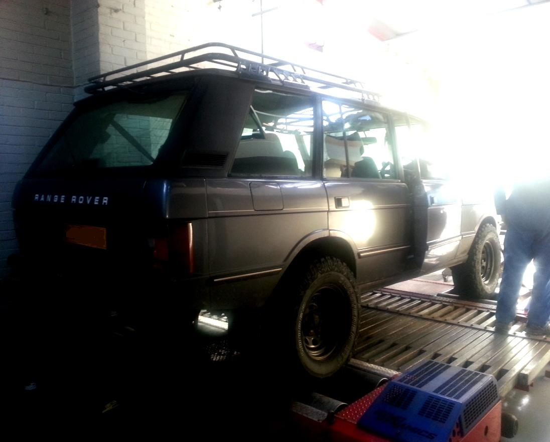 Range Rover Car on Dyno Dynamics Rolling Road Pictures