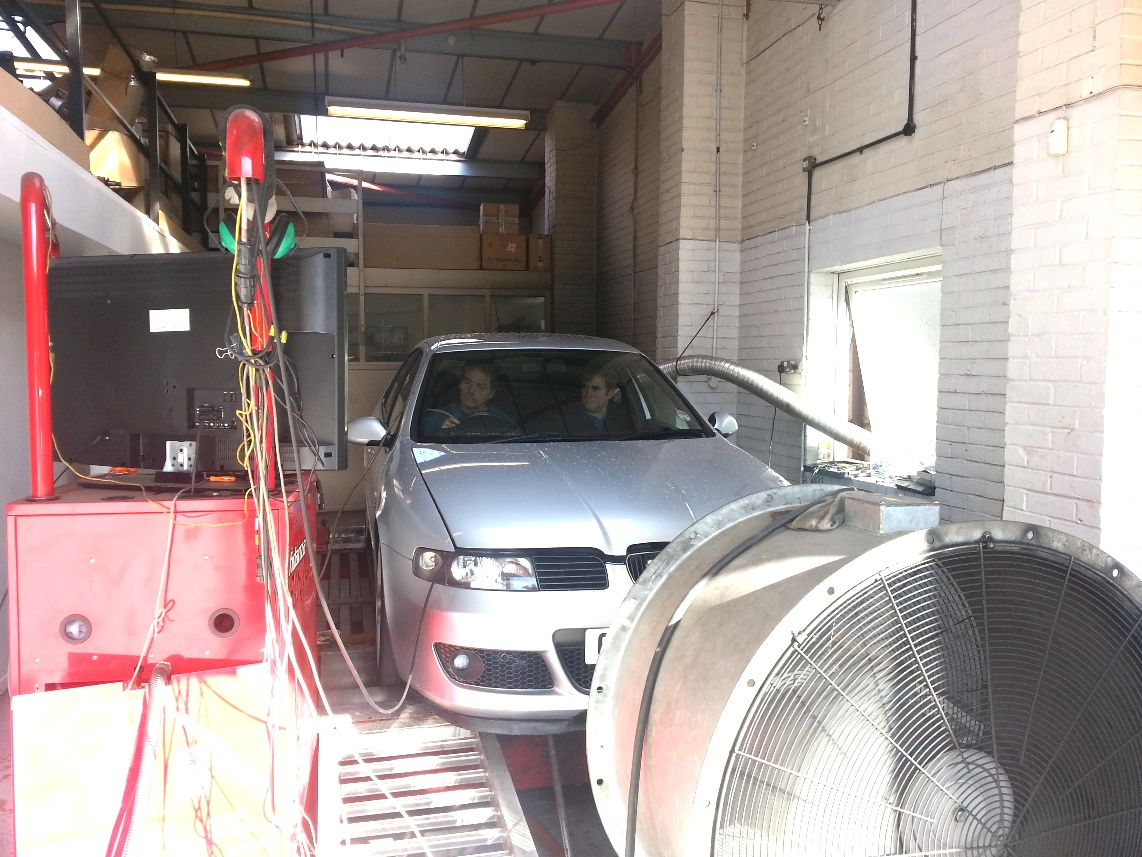 Seat Leon on Dyno Dynamics Rolling Road